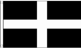 5ft x 3ft Fabric Flag of Cornwall St Piran Cornish Kernow Flag - Flags for Sale